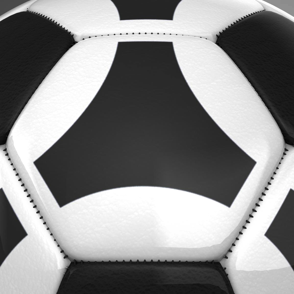 soccerball black white triangles 3d model 3ds max fbx c4d ma mb obj 204723