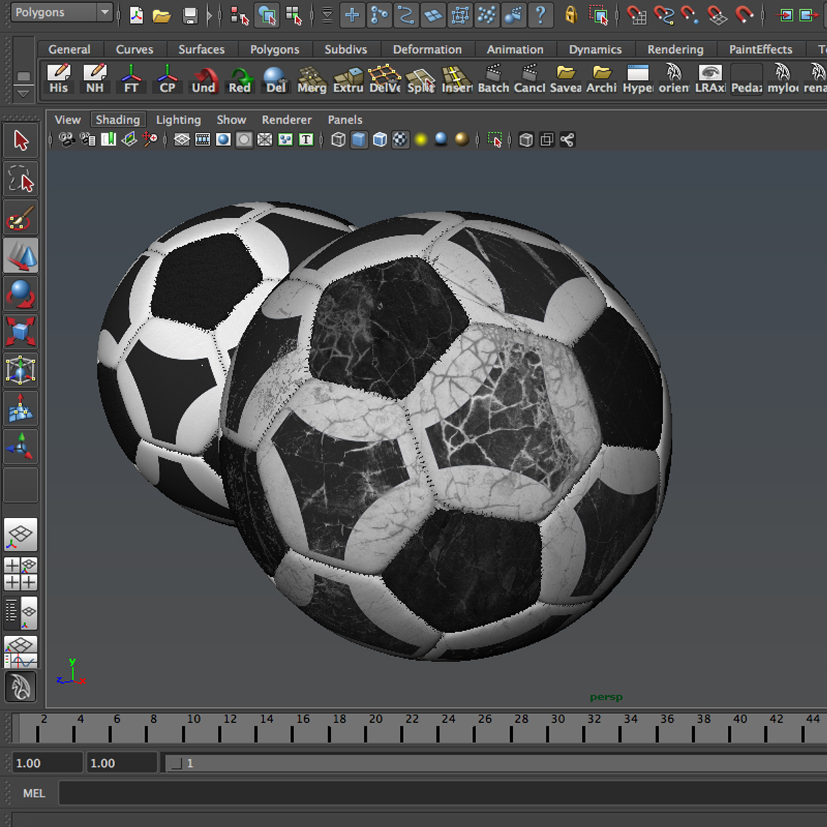 soccerball black white triangles 3d model 3ds max fbx c4d ma mb obj 204724