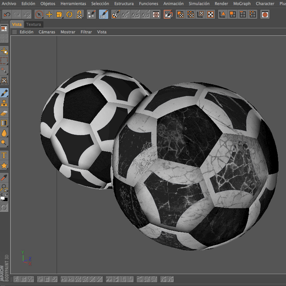 soccerball black white triangles 3d model 3ds max fbx c4d ma mb obj 204725