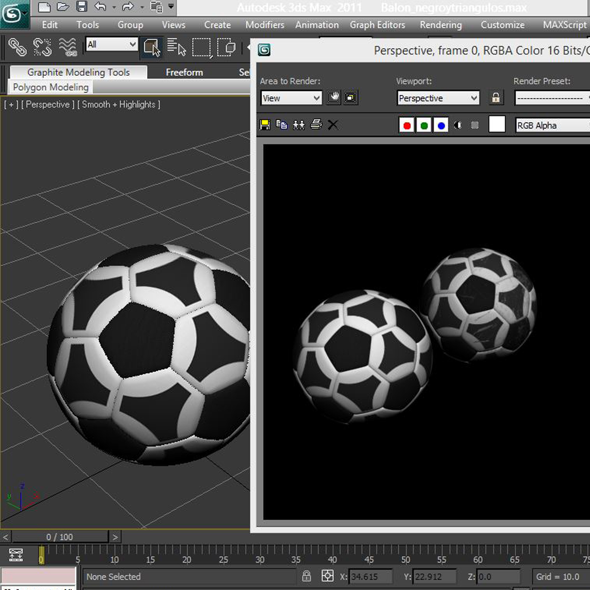 soccerball black white triangles 3d model 3ds max fbx c4d ma mb obj 204726