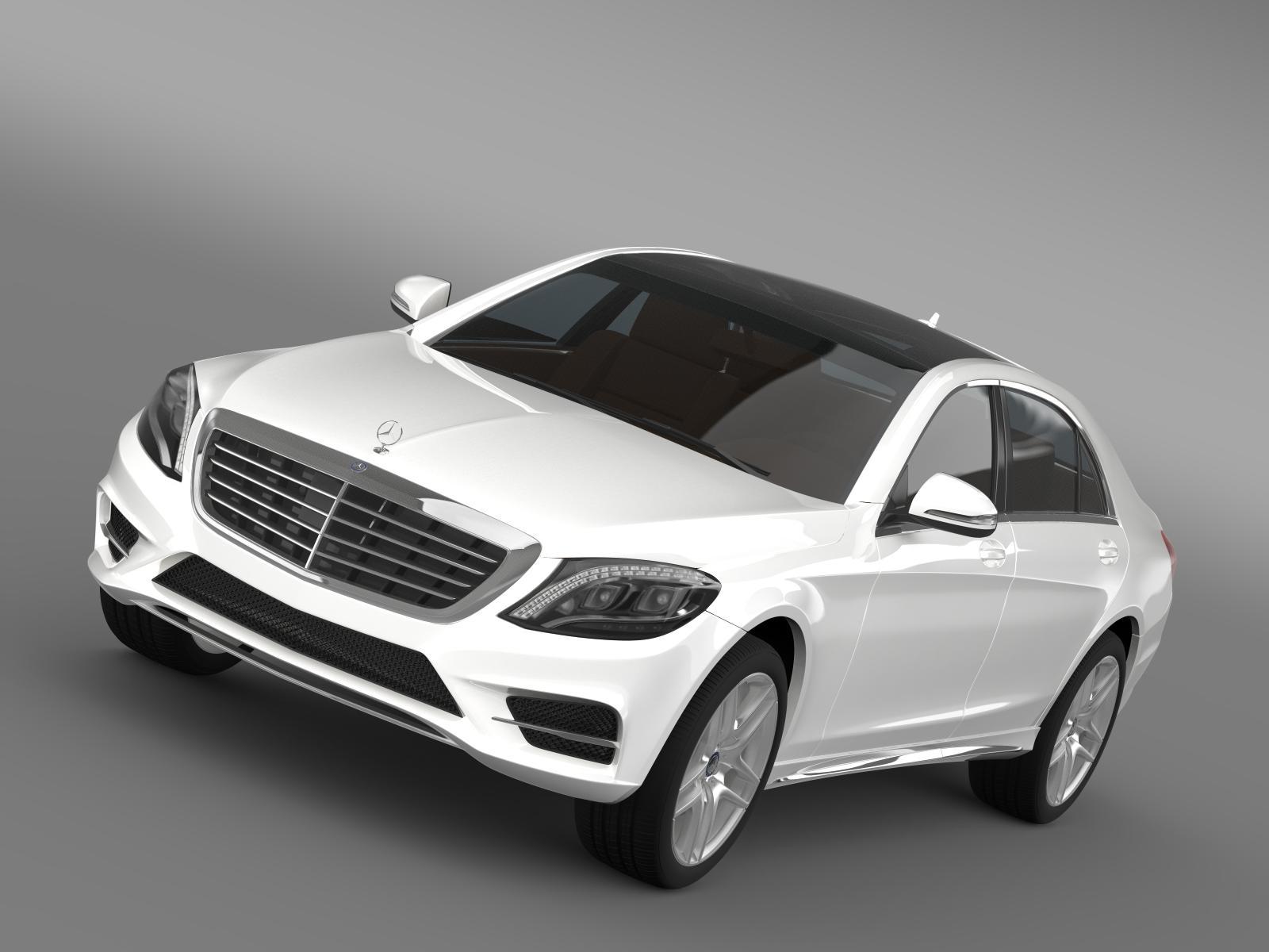 mercedes benz s 300 bluetec hybrid w222 2013 3d model 3ds fbx c4d lwo ma mb hrc xsi obj 204728