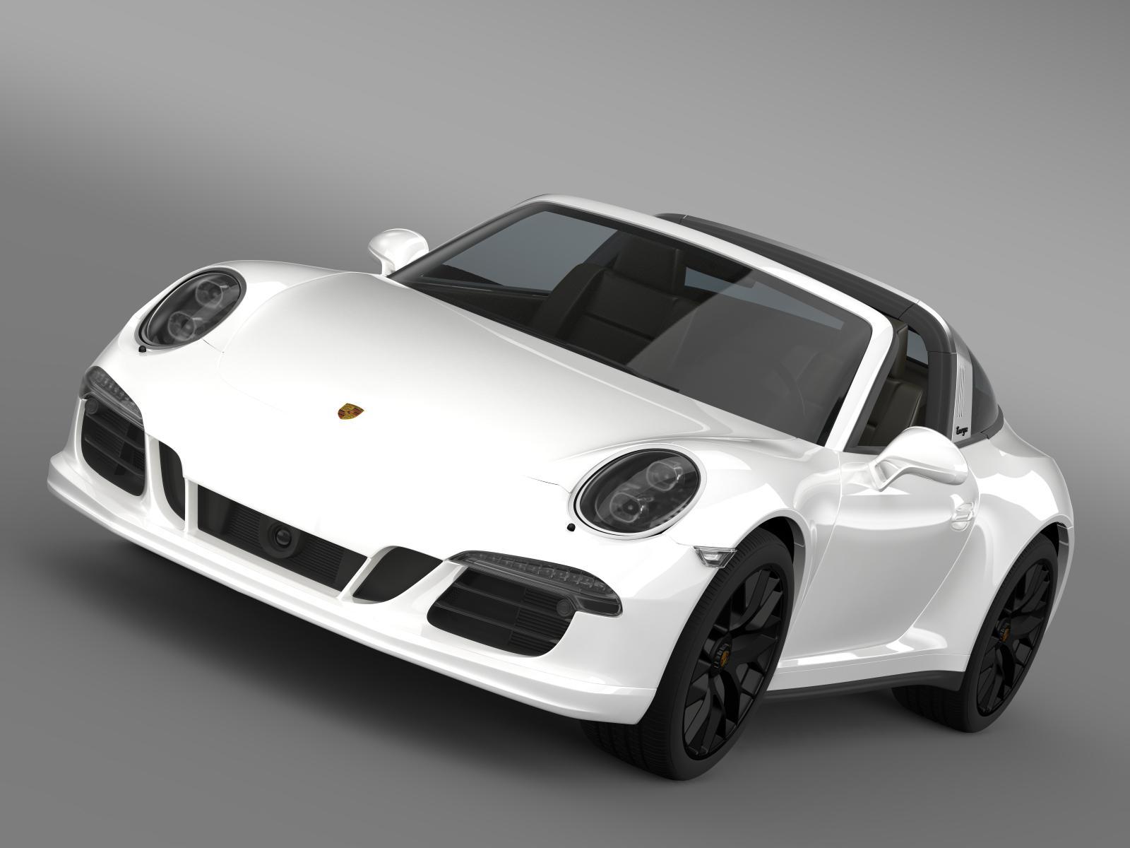 porsche 911 targa 4 gts (991) 2015 3d model 3ds max fbx c4d lwo ma mb hrc xsi obj 204786