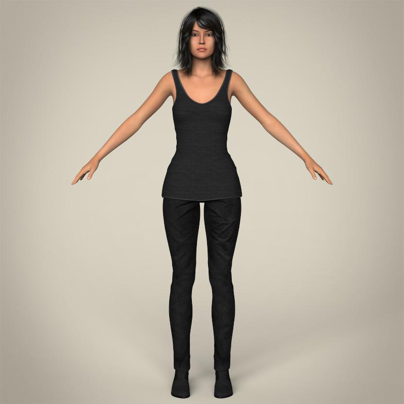 Realistic Beautiful Young Teen Female 3D Model – Buy ...