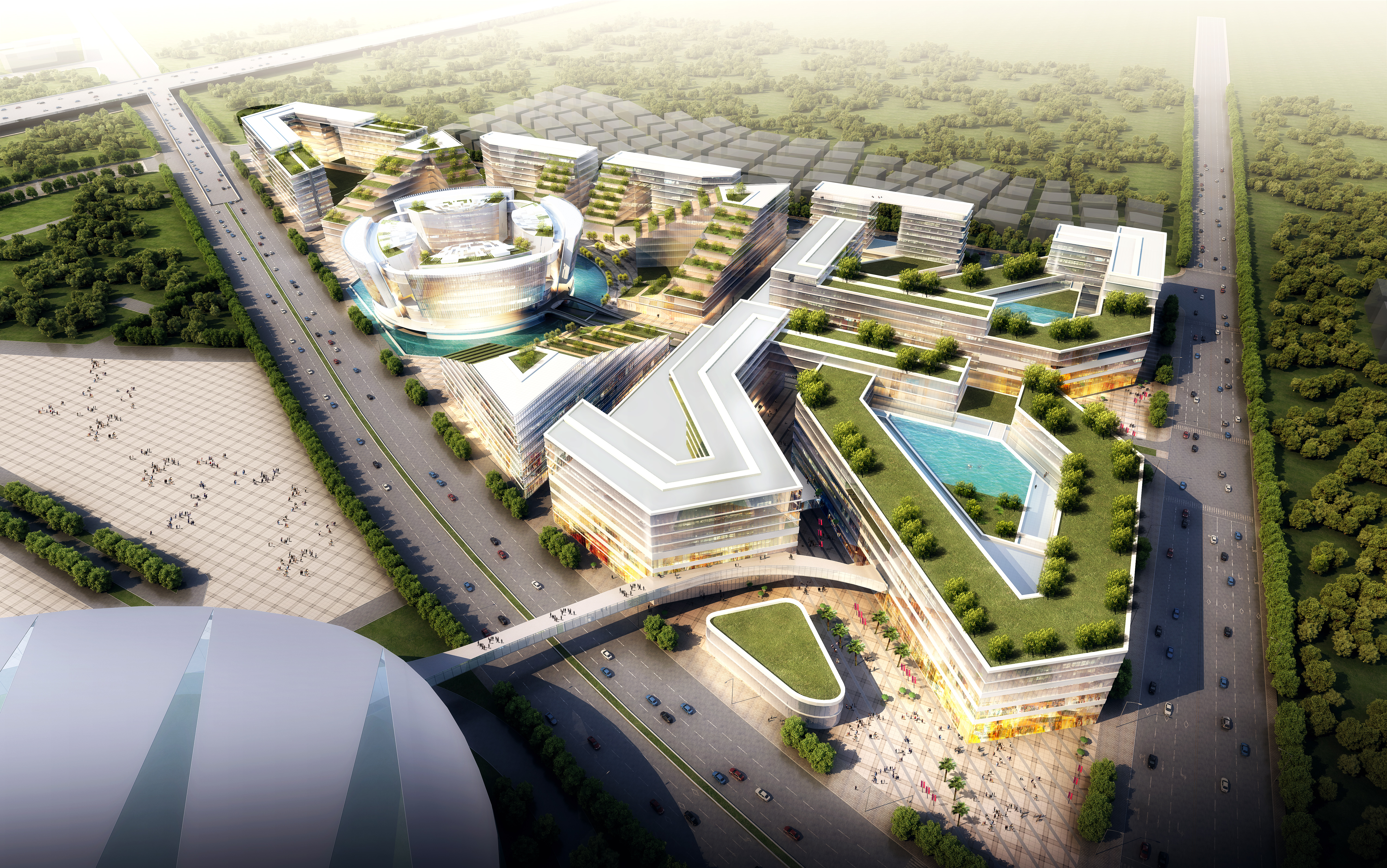 international convention and exhibition center 10 3d model max 204909