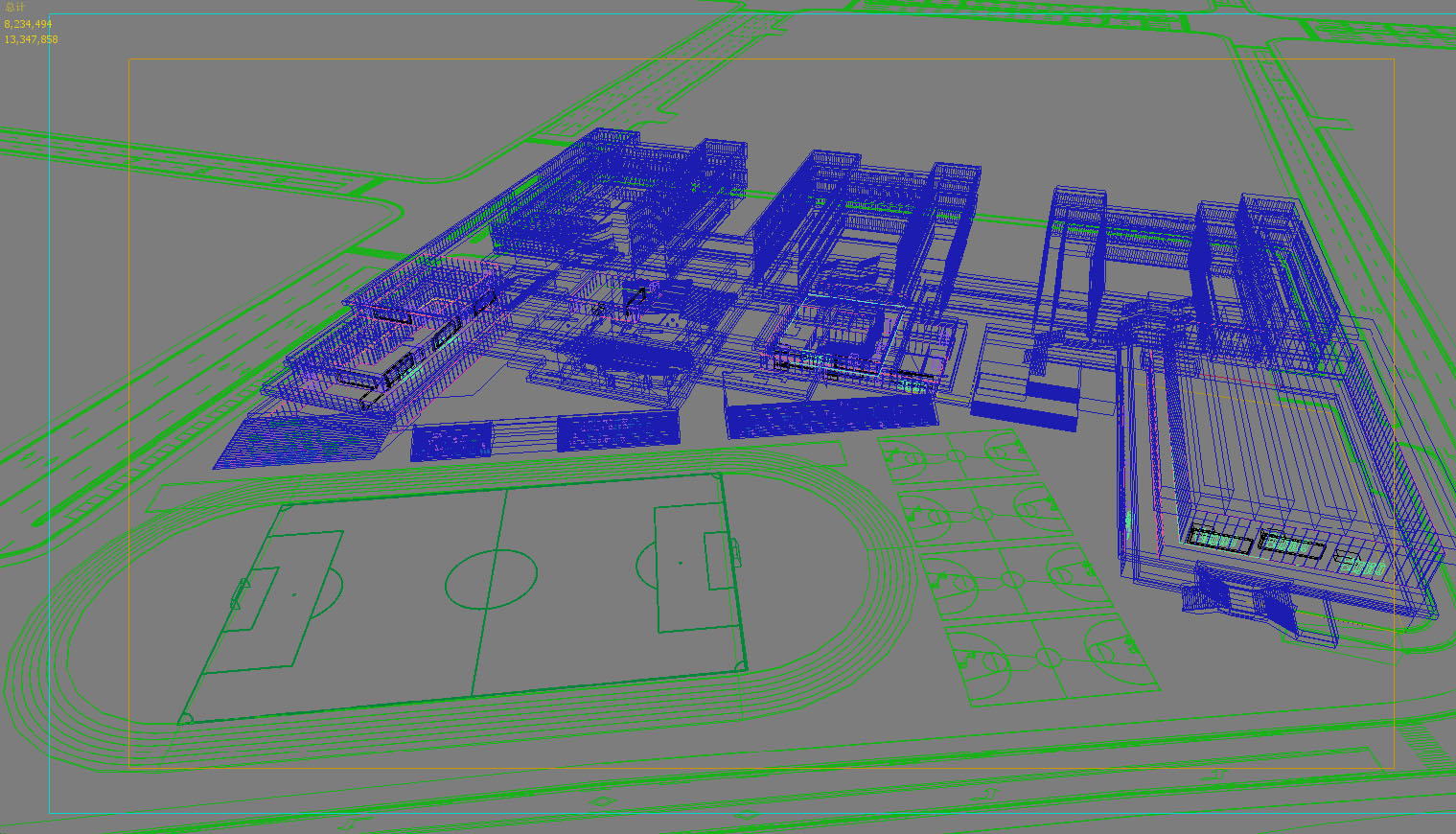 školske zgrade 001 3d model max 204946