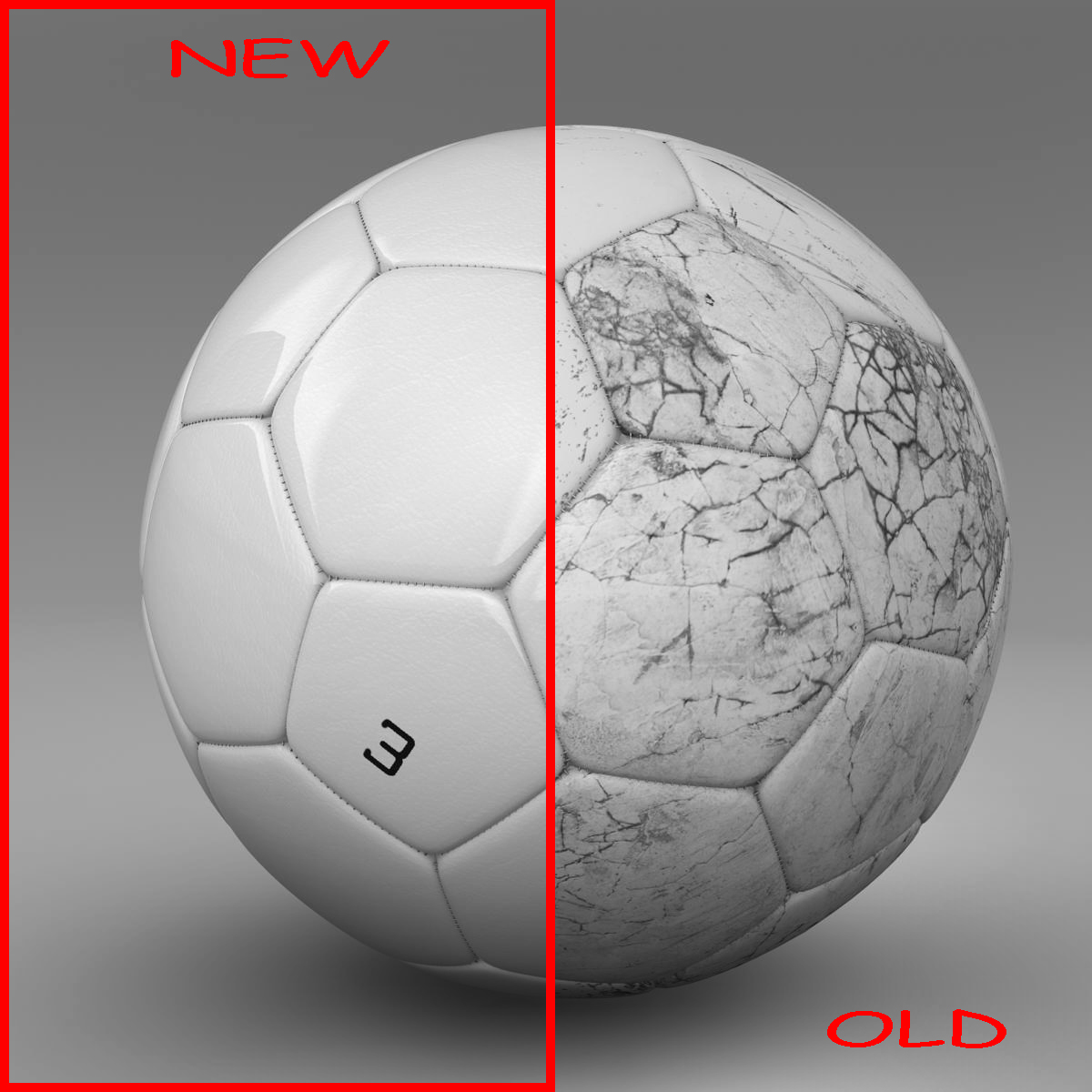 soccerball white 3d model 3ds max fbx c4d ma mb obj 205177