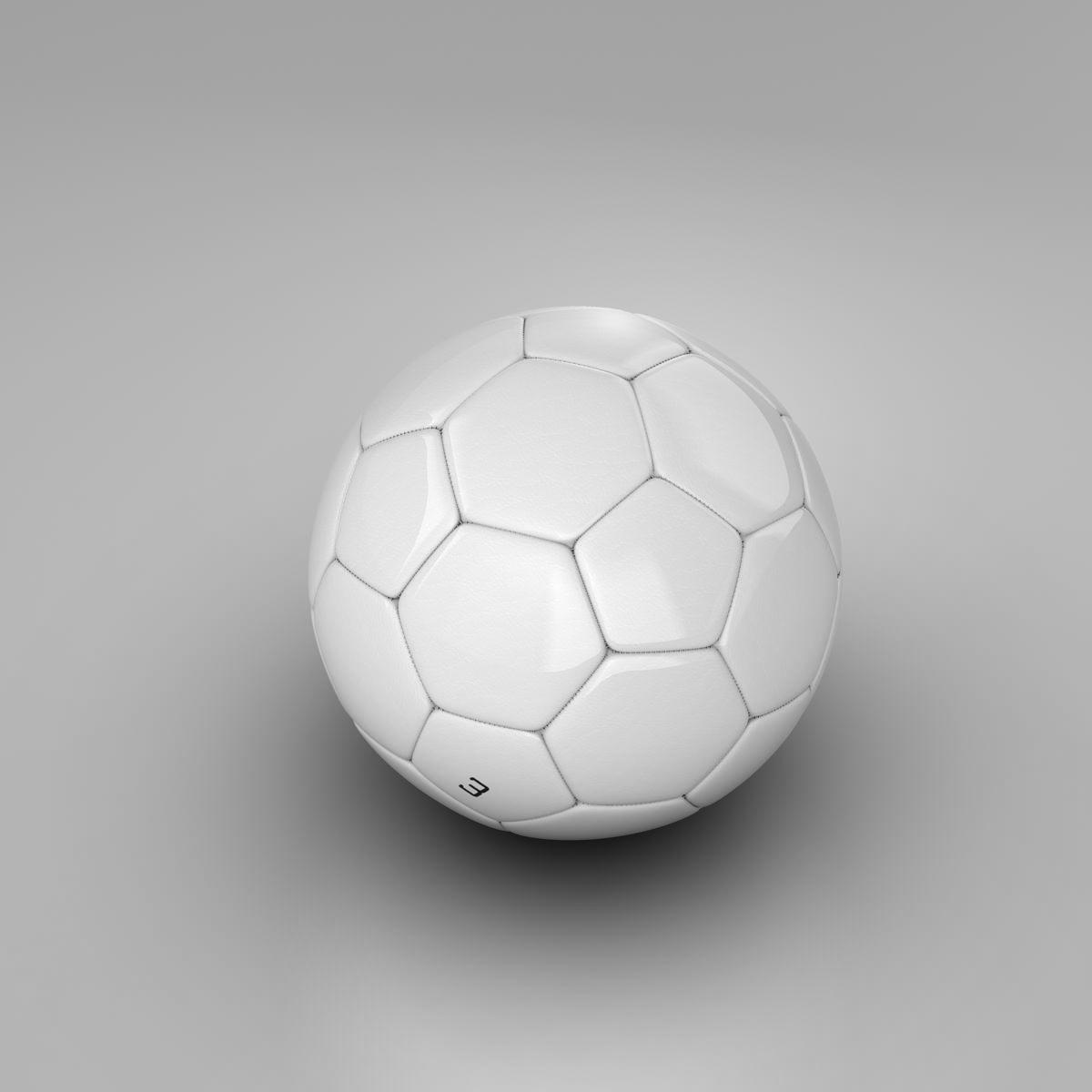 soccerball цагаан 3d загвар 3ds max fbx c4d ma mb obj 205179