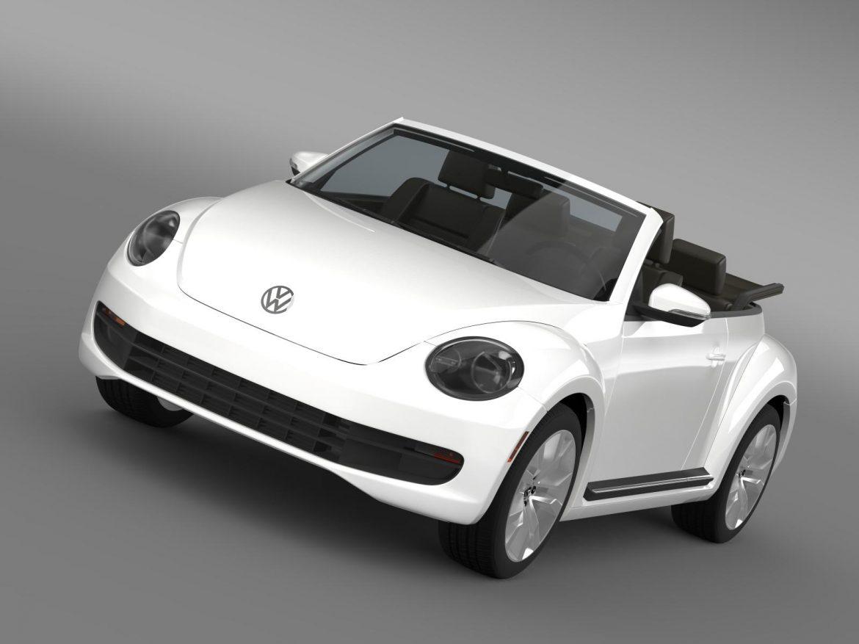 vw beetle tdi cabrio 2014 3d model 3ds max fbx c4d lwo ma mb hrc xsi obj 205250