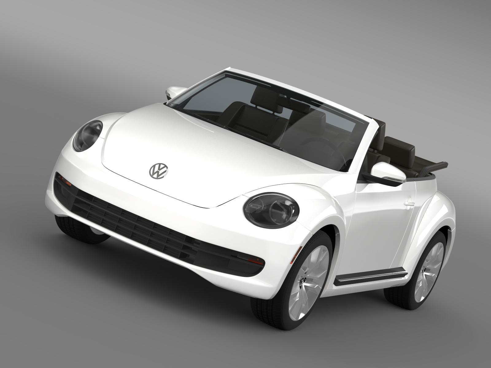 vw beetle tdi cabrio 2014 3d model 3ds max fbx c4d