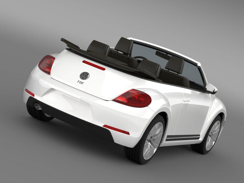 vw beetle tdi cabrio 2014 3d model 3ds max fbx c4d lwo ma mb hrc xsi obj 205251