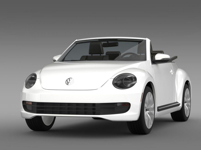 vw beetle tdi cabrio 2014 3d model 3ds max fbx c4d lwo ma mb hrc xsi obj 205252