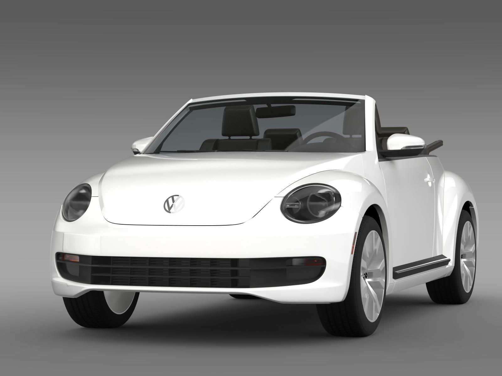 vw beetle tdi cabrio 2014 3d model buy vw beetle tdi. Black Bedroom Furniture Sets. Home Design Ideas