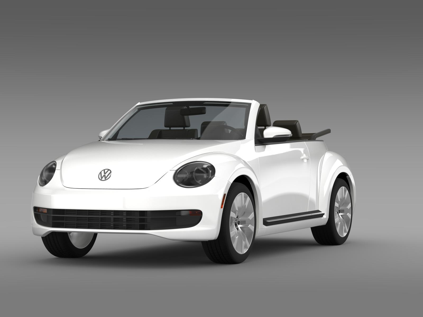 vw beetle tdi cabrio 2014 3d model flatpyramid. Black Bedroom Furniture Sets. Home Design Ideas