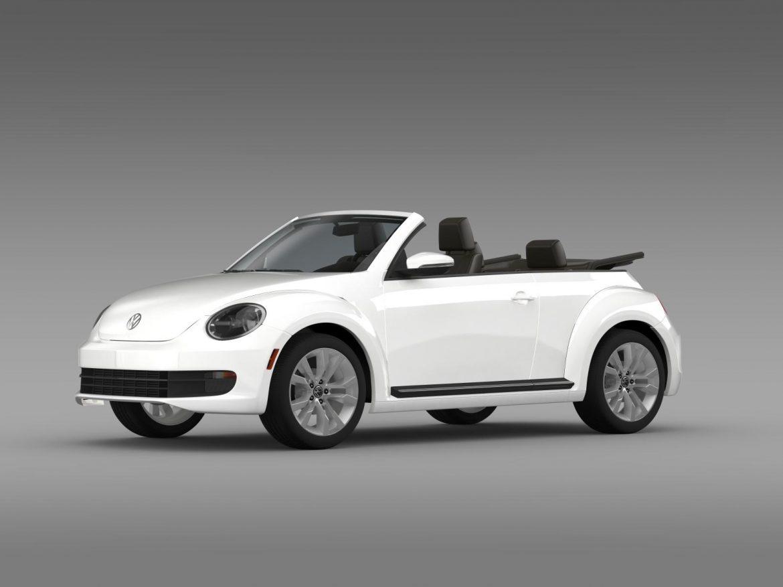 vw beetle tdi cabrio 2014 3d model 3ds max fbx c4d lwo ma mb hrc xsi obj 205254