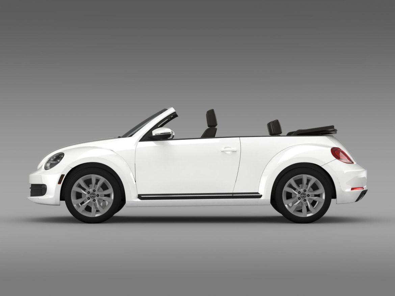 vw beetle tdi cabrio 2014 3d model 3ds max fbx c4d lwo ma mb hrc xsi obj 205255