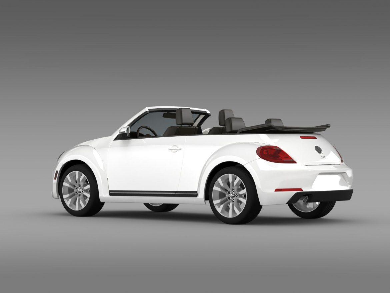 vw beetle tdi cabrio 2014 3d model 3ds max fbx c4d lwo ma mb hrc xsi obj 205256
