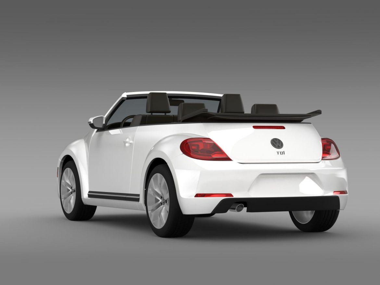 vw beetle tdi cabrio 2014 3d model 3ds max fbx c4d lwo ma mb hrc xsi obj 205257