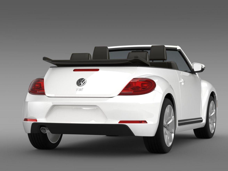 vw beetle tdi cabrio 2014 3d model 3ds max fbx c4d lwo ma mb hrc xsi obj 205258