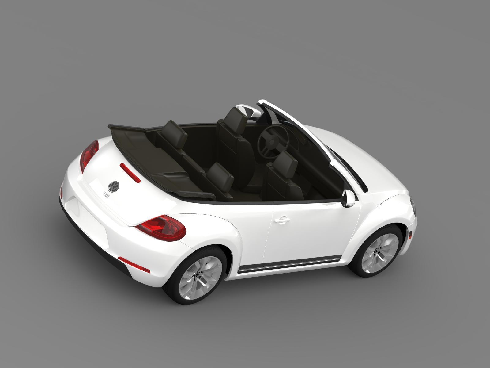 vw beetle tdi cabrio 2014 3d model. Black Bedroom Furniture Sets. Home Design Ideas