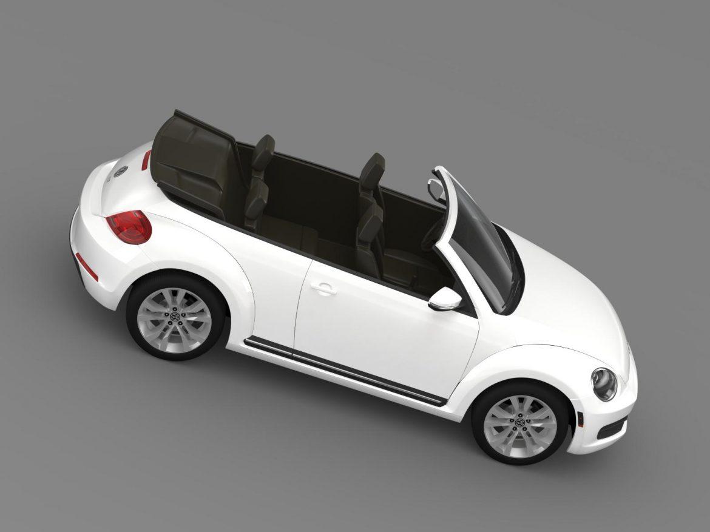 vw beetle tdi cabrio 2014 3d model 3ds max fbx c4d lwo ma mb hrc xsi obj 205260