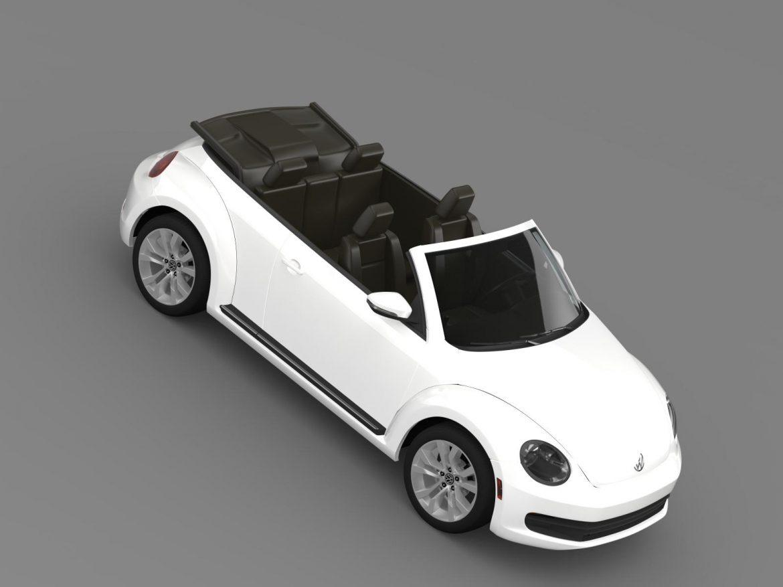 vw beetle tdi cabrio 2014 3d model 3ds max fbx c4d lwo ma mb hrc xsi obj 205261