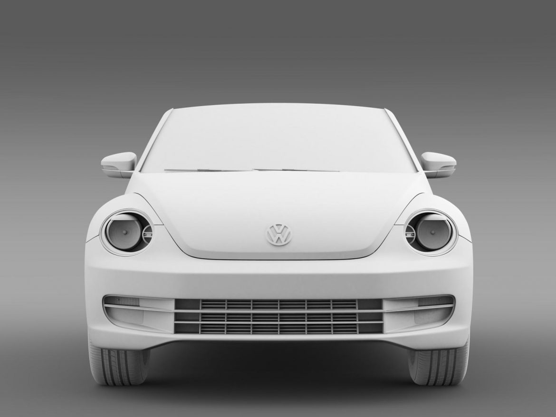 vw beetle tdi cabrio 2014 3d model 3ds max fbx c4d lwo ma mb hrc xsi obj 205262