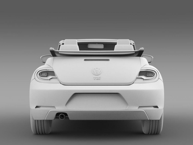 vw beetle tdi cabrio 2014 3d model 3ds max fbx c4d lwo ma mb hrc xsi obj 205263