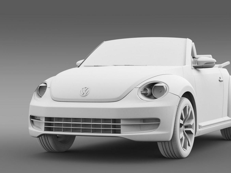 vw beetle tdi cabrio 2014 3d model 3ds max fbx c4d lwo ma mb hrc xsi obj 205264