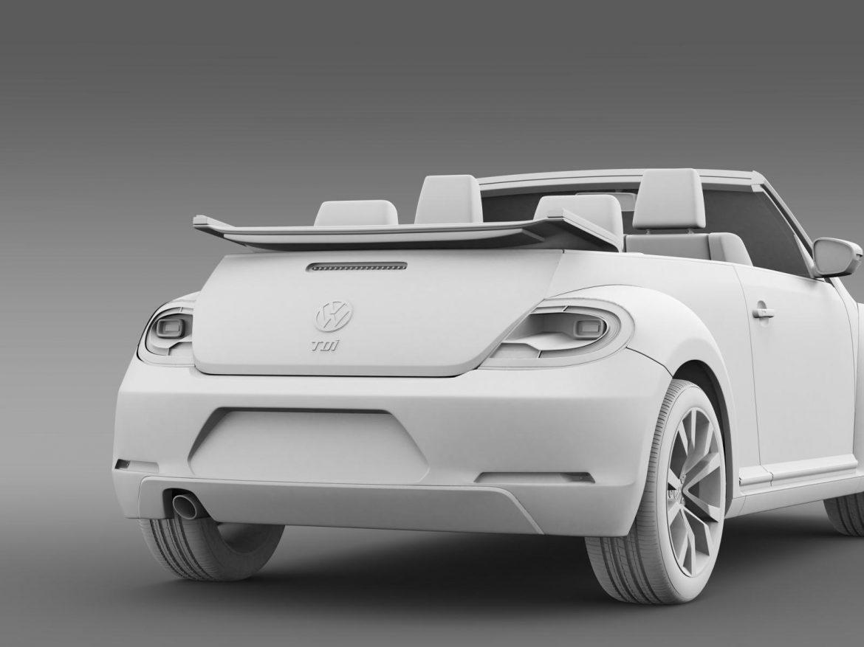 vw beetle tdi cabrio 2014 3d model 3ds max fbx c4d lwo ma mb hrc xsi obj 205265