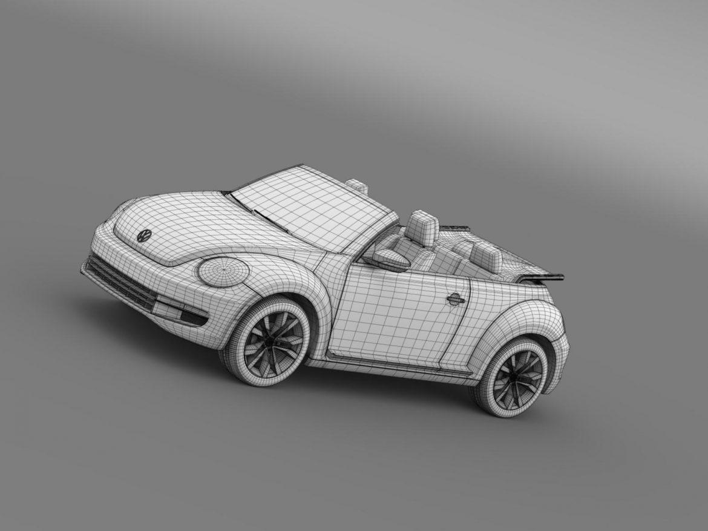 vw beetle tdi cabrio 2014 3d model 3ds max fbx c4d lwo ma mb hrc xsi obj 205266