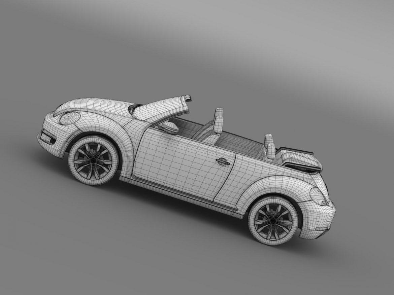 vw beetle tdi cabrio 2014 3d model 3ds max fbx c4d lwo ma mb hrc xsi obj 205267