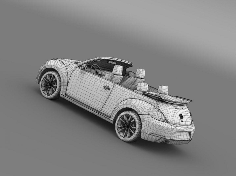 vw beetle tdi cabrio 2014 3d model 3ds max fbx c4d lwo ma mb hrc xsi obj 205268