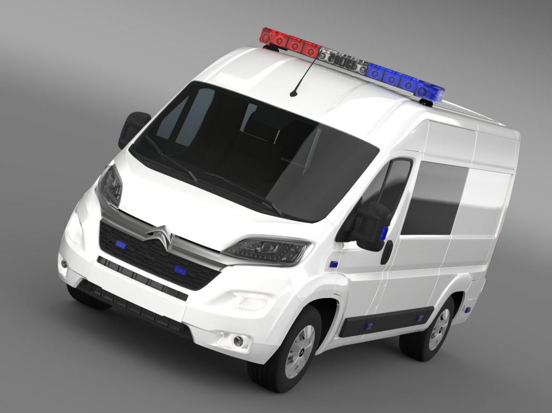 citroen relay police 2015 3d model 3ds max fbx c4d lwo ma mb hrc xsi obj 205270