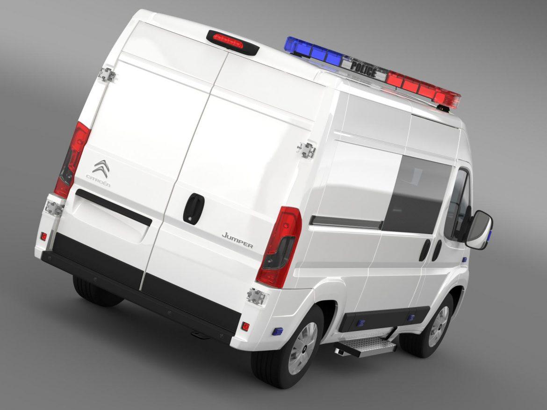 citroen relay police 2015 3d model 3ds max fbx c4d lwo ma mb hrc xsi obj 205271
