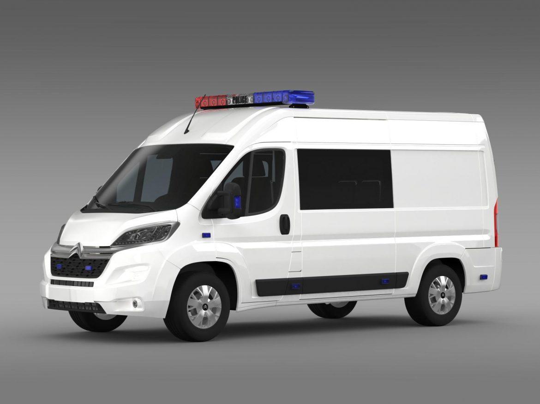 citroen relay police 2015 3d model 3ds max fbx c4d lwo ma mb hrc xsi obj 205274