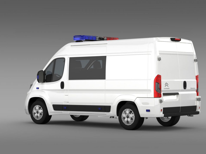 citroen relay police 2015 3d model 3ds max fbx c4d lwo ma mb hrc xsi obj 205276