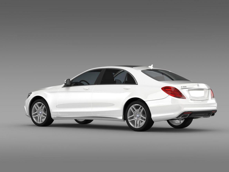 amg mercedes benz s 500 w222 2013 3d model 3ds max fbx c4d lwo ma mb hrc xsi obj 205294