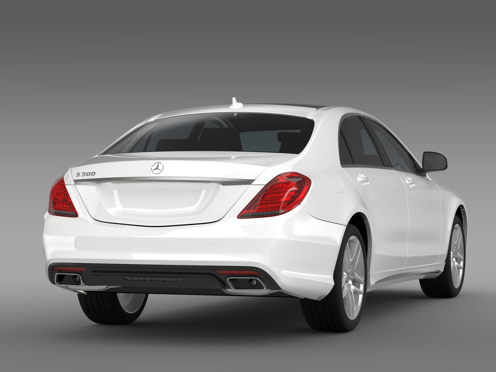 Amg mercedes benz s 500 w222 2013 3d model buy amg for Models of mercedes benz