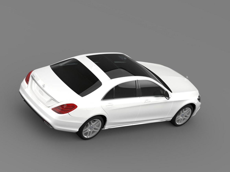 amg mercedes benz s 500 w222 2013 3d model 3ds max fbx c4d lwo ma mb hrc xsi obj 205297