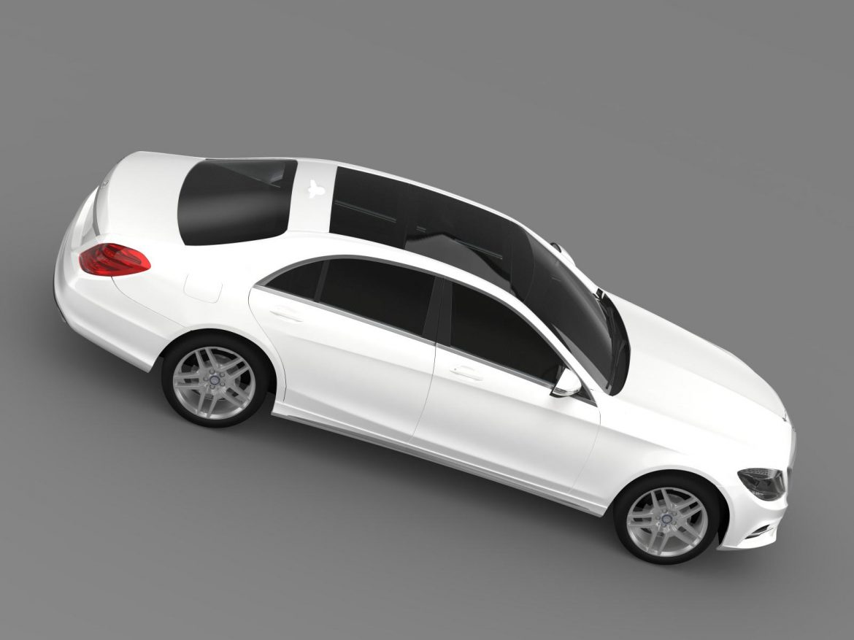 amg mercedes benz s 500 w222 2013 3d model 3ds max fbx c4d lwo ma mb hrc xsi obj 205298