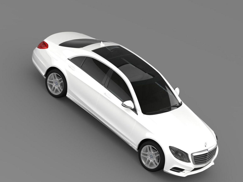 amg mercedes benz s 500 w222 2013 3d model 3ds max fbx c4d lwo ma mb hrc xsi obj 205299