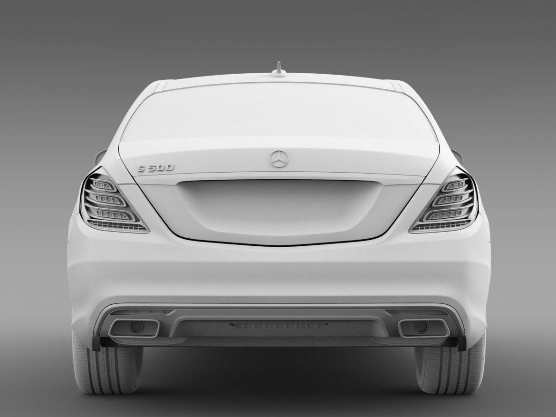 amg mercedes benz s 500 w222 2013 3d model 3ds max fbx c4d lwo ma mb hrc xsi obj 205300