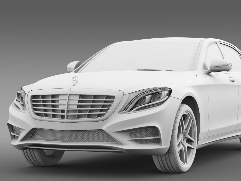 amg mercedes benz s 500 w222 2013 3d model 3ds max fbx c4d lwo ma mb hrc xsi obj 205301