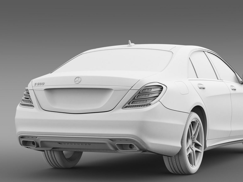 amg mercedes benz s 500 w222 2013 3d model 3ds max fbx c4d lwo ma mb hrc xsi obj 205302