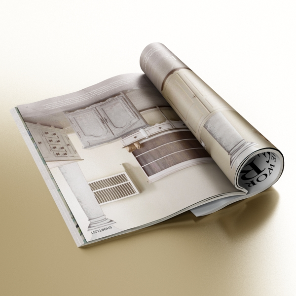magazine 02 3d model 3ds max fbx texture obj 205312