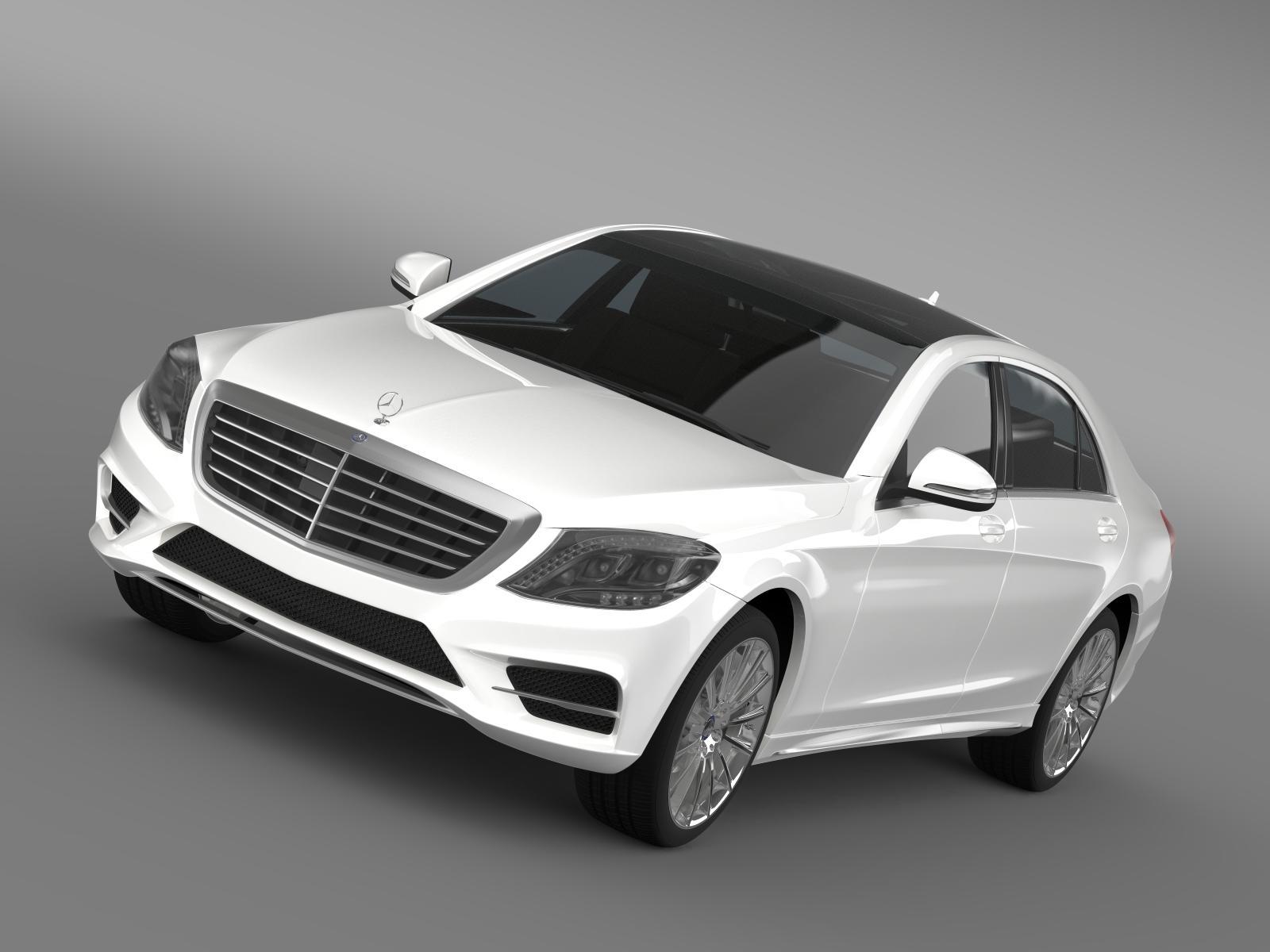 AMG Mercedes Benz s 500 stinga í blendingur w222 2014 3d með líkani 3ds max fbx c4d LWO MA Mb HRC XSi obj 205332