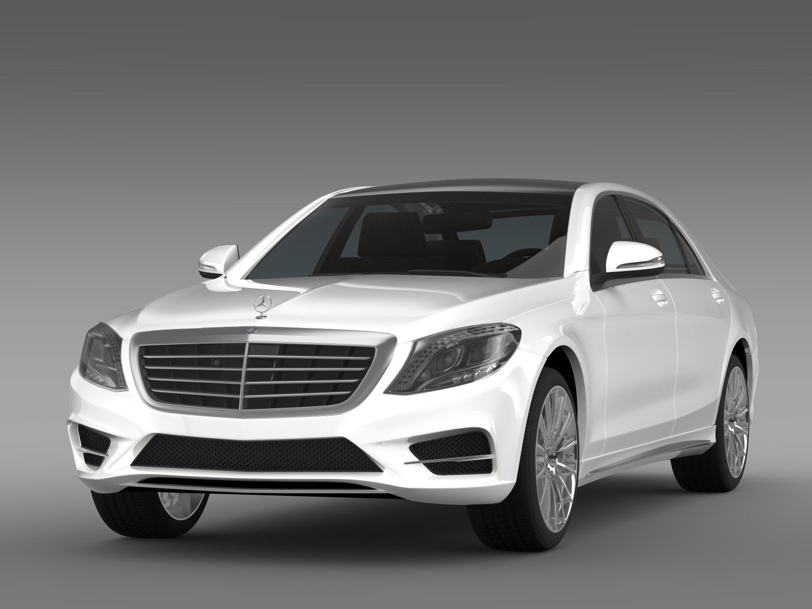 Amg mercedes benz s 500 plug in hybrid w222 2014 3d model for Hybrid mercedes benz