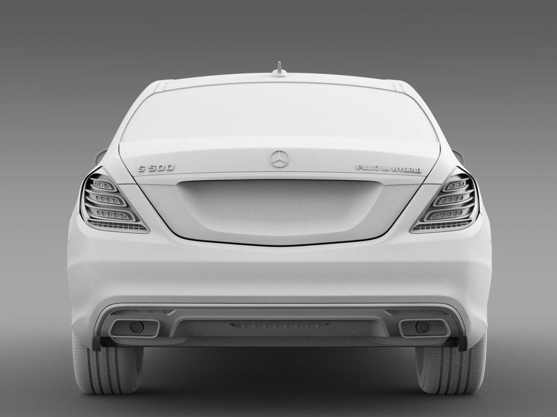 amg mercedes benz s 500 plug in hybrid w222 2014 3d model 3ds max fbx c4d lwo ma mb hrc xsi obj 205345