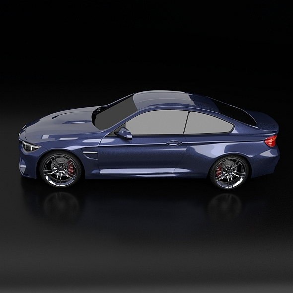 bmw m4 redesigned 3d model 3ds fbx blend dae obj 205392