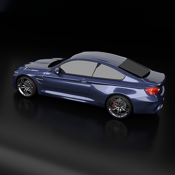 bmw m4 redesigned 3d model 3ds fbx blend dae obj 205393